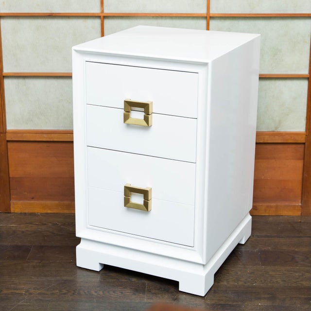 Mid-Century Lacquered Nightstands - A Pair - Image 3 of 10