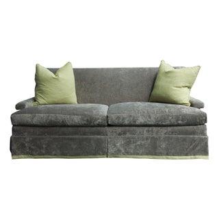 Custom McDonald 76'' Sofa in Grey Velvet