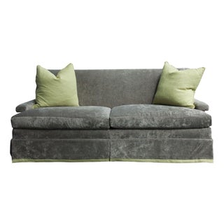 Custom McDonald 76'' Sofa in Grey Velvet