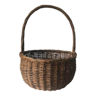 Vintage New England Gathering Basket
