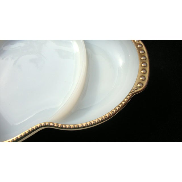 Art Deco Milk Glass Relish Candy Dishes - A Pair - Image 7 of 7