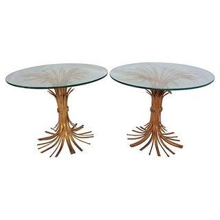 Italian Wheat Sheaf Side Tables - A Pair