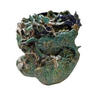 Handmade Green Kirin Shape Wall Hanging Vase