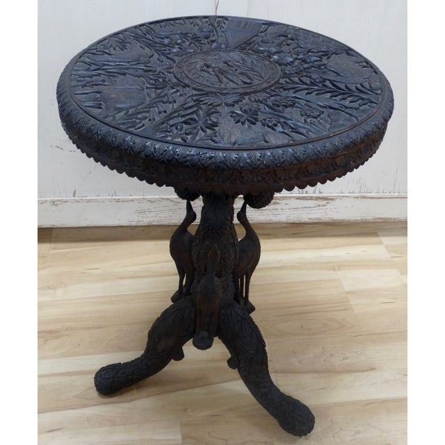 Hand-Carved Table - Image 2 of 5