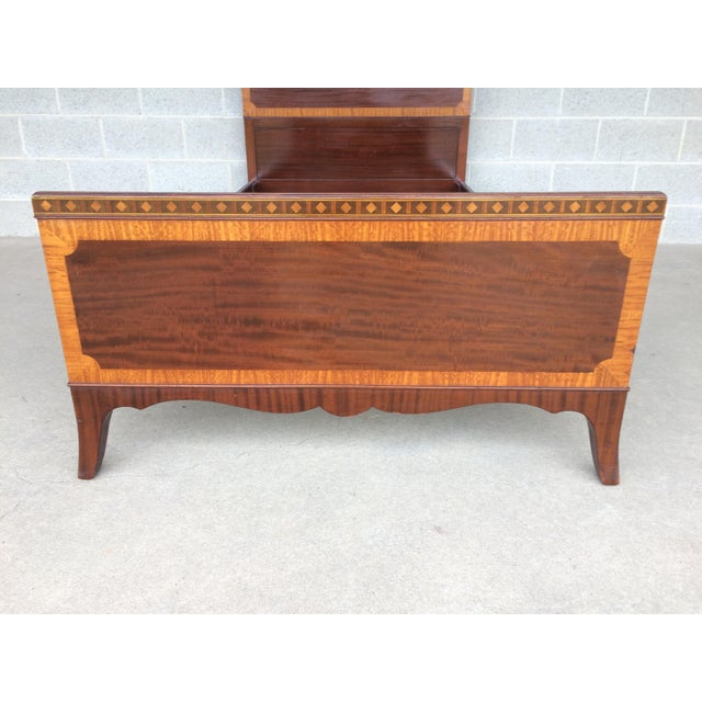 Kindel Quality Adams Style Banded Mahogany Single Bed - Image 6 of 9