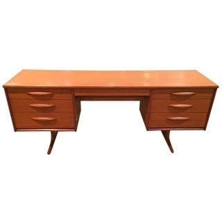 Danish Mid-Century Modern Floating Teak Desk