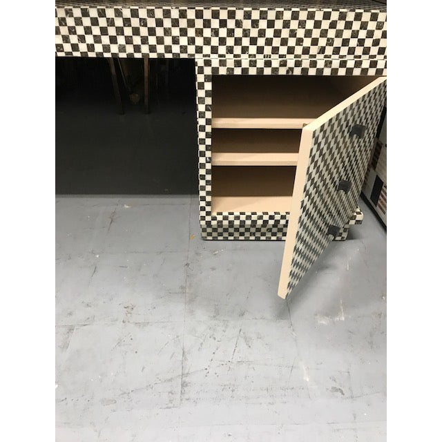 Marble Inlay Checkered Desk - Image 5 of 7
