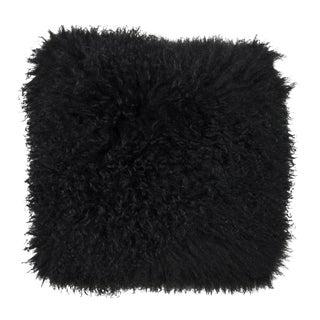 Black Mongolian Lamb Pillow