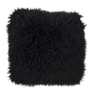 Black Mongolian Lamb Pillow