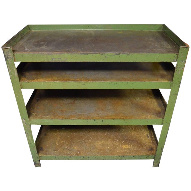 Industrial Steel Cart with Four Shelves - Image 1 of 8