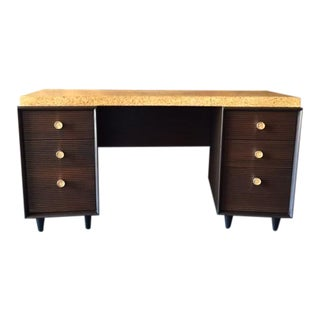 Paul Frankl for Johnson Furniture Mid Century Cork & Mahogany Desk