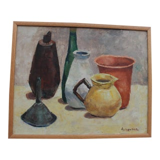 Alexander Abstract Still Life Bottles Painting