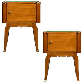 French Art Deco Rosewood Side Tables - A Pair