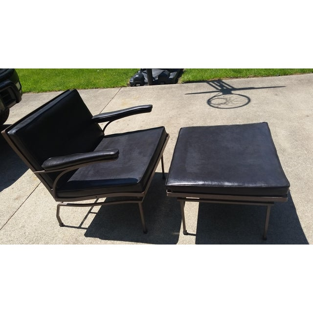 Mid-Century Russel Woodard Lounge Chair & Ottoman - Image 2 of 7