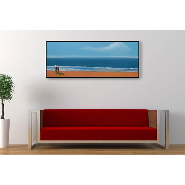 Small Sea With Couple Oil Painting - Image 5 of 10