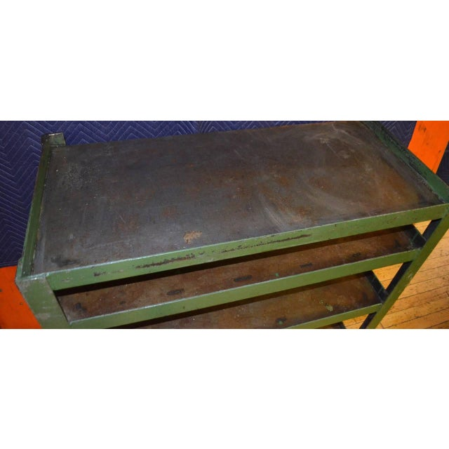 Industrial Steel Cart with Four Shelves - Image 8 of 8