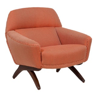A Danish Leif Hansen attributed Upholstered Armchair 1950s