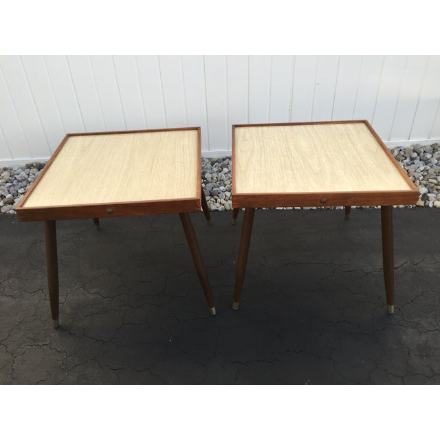 Mid-Century Stacking Side Tables - Pair - Image 6 of 6