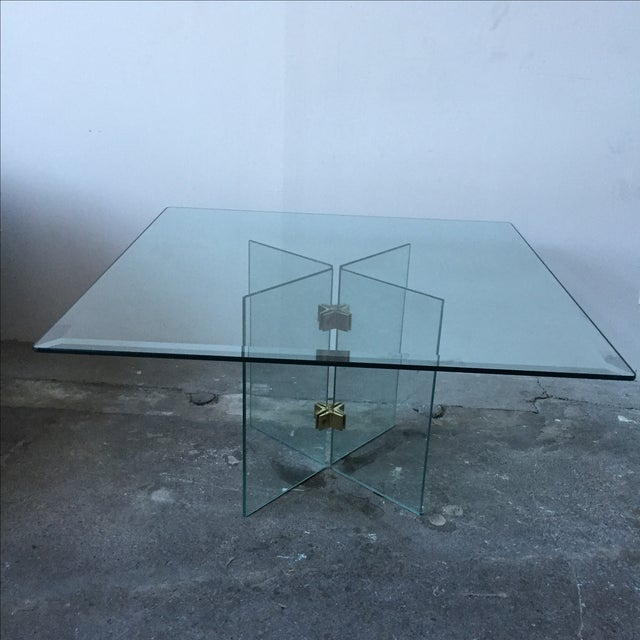 Leon Rosen Pace Collection Glass Coffee Table - Image 3 of 10