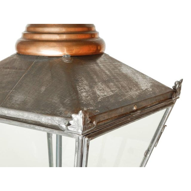 Large Copper and Zinc French Lantern - Image 6 of 8