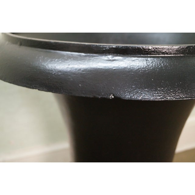 Classic French Style Black Cast Iron Urns - A Pair - Image 7 of 10