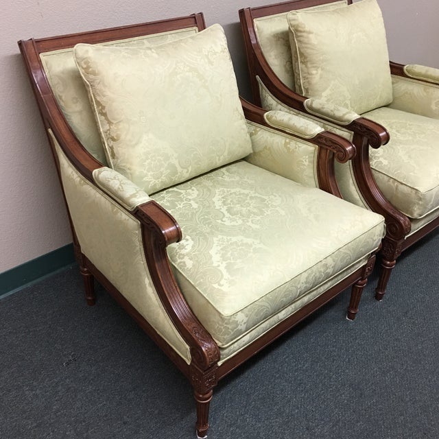 Ethan Allen Fairfax Arm Chairs - A Pair - Image 4 of 11