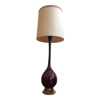 Arthur Percy Gullaskruf Amethyst Glass Lamp