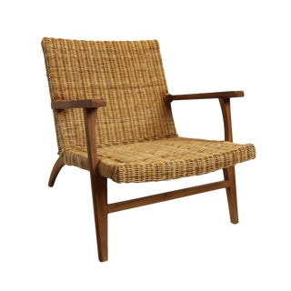 Modern Natural Fiber Easy Chair