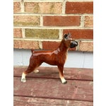 Image of 1950s Vintage Boxer Dog Figurine
