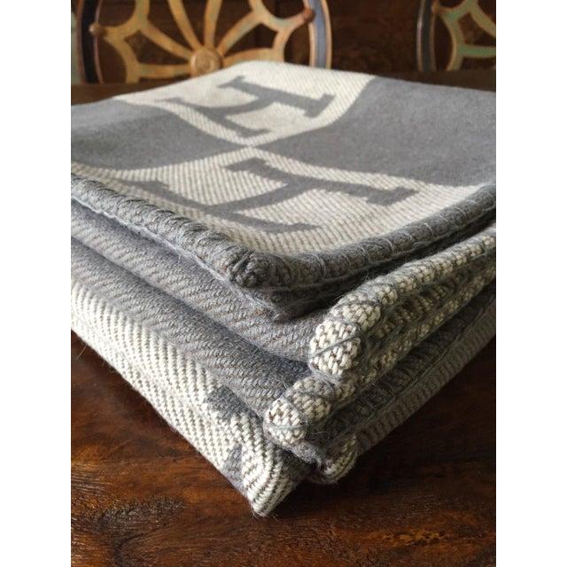 "Hermès Estate ""H"" Avalon Blanket Throw - Image 3 of 8"