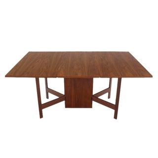 George Nelson Walnut Drop-Leaf Dining Table