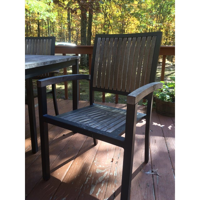 Danish Outdoor Teak Dining Set - S/5 - Image 7 of 9