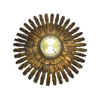 Syroco 8-Day Jeweled Sunburst Wall Clock