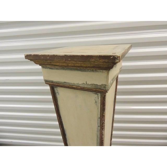 Vintage Square Distressed Painted Plinth - Image 3 of 5