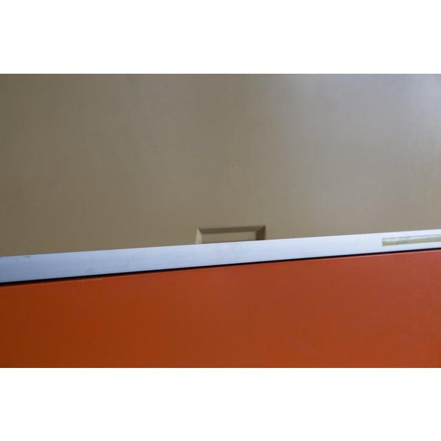 Vintage Orange & Yellow Steel Tab Office Cabinets - Image 5 of 7