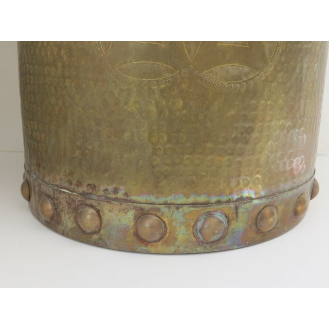 Brass Drum-Style Cachepot - Image 4 of 8