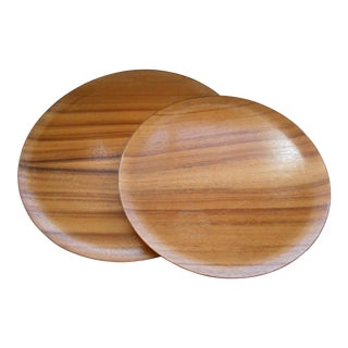 Koa Wood Trays - A Pair