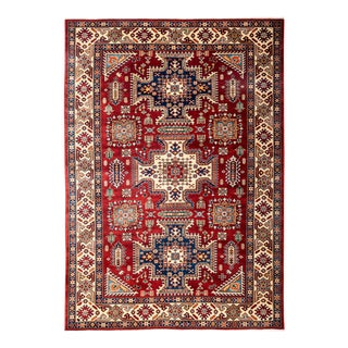 "Traditional Hand Knotted Area Rug - 5'4"" X 7'4"""