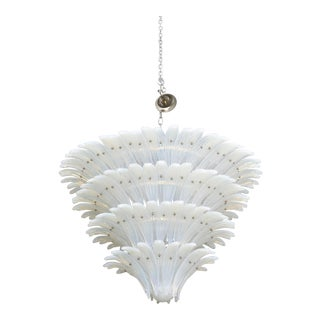Very Fine and Monumental Sabino Opalescent Glass Chandelier