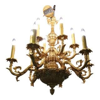 19th Century Louis XVI Gilt Bronze Chandelier