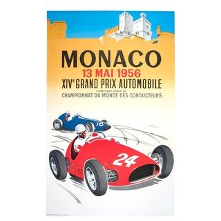 """Jean Ramel """"Monaco Grand Prix 1956"""" Lithograph"""