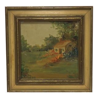 Vintage Oil Painting on Glass