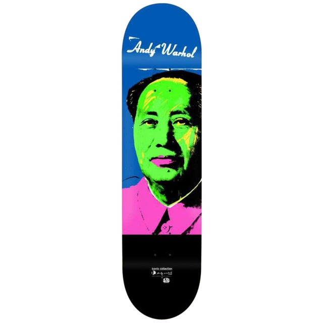 Image of Andy Warhol Mao Skateboard Deck