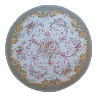"""Pasargad Aubusson Hand Woven Wool Rug - 4'11"""" x 4'11"""""""