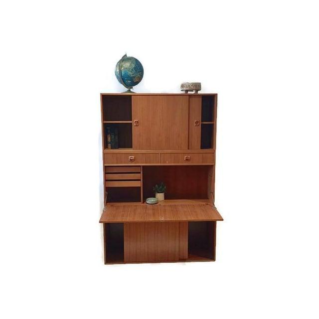 Mid Century Teak Modular Wall Unit Desk or Bar - Image 4 of 9