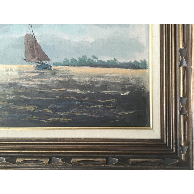 Oil Painting of Sailboats - Image 3 of 5