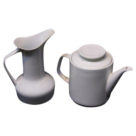 Paul McCobb Mid-Century Coffee Pot & Pitcher - A Pair - Image 1 of 5