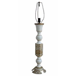 Moroccan Enamel And Brass Carved Lamp