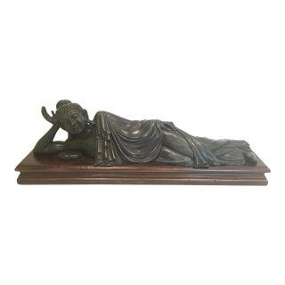 Theodore Alexander Brass Reclining Buddha Statue