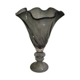 John Richard Smoked Glass Vase